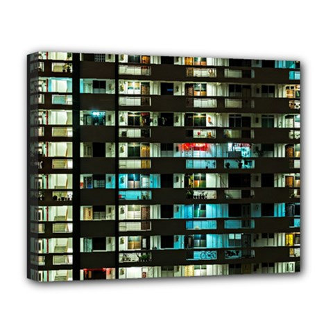 Architectural Design Architecture Building Cityscape Deluxe Canvas 20  X 16  (stretched)