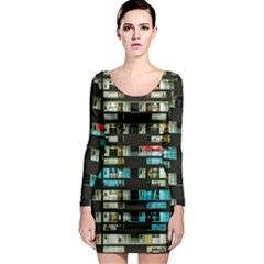 Architectural Design Architecture Building Cityscape Long Sleeve Bodycon Dress