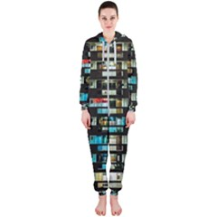 Architectural Design Architecture Building Cityscape Hooded Jumpsuit (ladies)