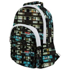 Architectural Design Architecture Building Cityscape Rounded Multi Pocket Backpack