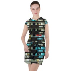 Architectural Design Architecture Building Cityscape Drawstring Hooded Dress