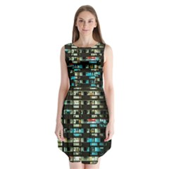 Architectural Design Architecture Building Cityscape Sleeveless Chiffon Dress