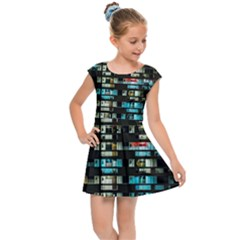 Architectural Design Architecture Building Cityscape Kids  Cap Sleeve Dress