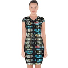 Architectural Design Architecture Building Cityscape Capsleeve Drawstring Dress