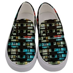 Architectural Design Architecture Building Cityscape Men s Canvas Slip Ons