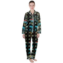 Architectural Design Architecture Building Cityscape Satin Long Sleeve Pyjamas Set