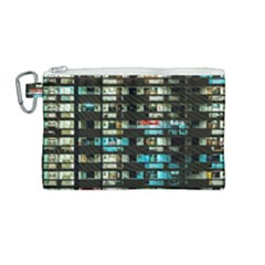 Architectural Design Architecture Building Cityscape Canvas Cosmetic Bag (medium)