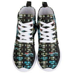 Architectural Design Architecture Building Cityscape Women s Lightweight High Top Sneakers
