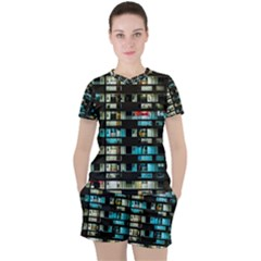 Architectural Design Architecture Building Cityscape Women s Tee And Shorts Set
