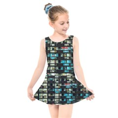 Architectural Design Architecture Building Cityscape Kids  Skater Dress Swimsuit