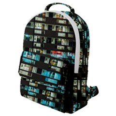 Architectural Design Architecture Building Cityscape Flap Pocket Backpack (small)