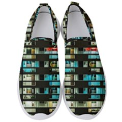 Architectural Design Architecture Building Cityscape Men s Slip On Sneakers