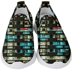 Architectural Design Architecture Building Cityscape Kids  Slip On Sneakers