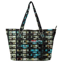 Architectural Design Architecture Building Cityscape Full Print Shoulder Bag