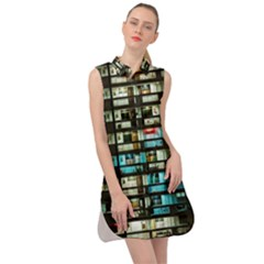 Architectural Design Architecture Building Cityscape Sleeveless Shirt Dress