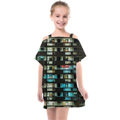 Architectural Design Architecture Building Cityscape Kids  One Piece Chiffon Dress