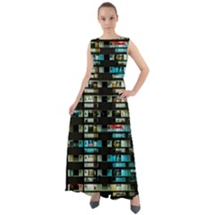 Architectural Design Architecture Building Cityscape Chiffon Mesh Maxi Dress