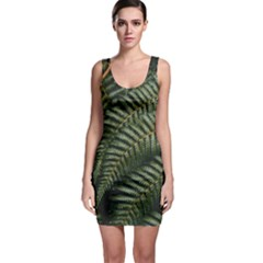 Green Leaves Photo Bodycon Dress