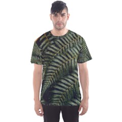 Green Leaves Photo Men s Sports Mesh Tee