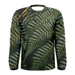 Green Leaves Photo Men s Long Sleeve Tee