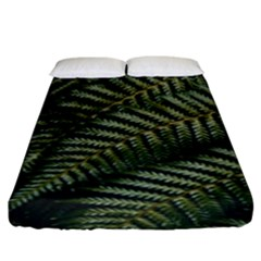 Green Leaves Photo Fitted Sheet (king Size)