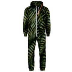 Green Leaves Photo Hooded Jumpsuit (men)