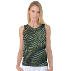Green Leaves Photo Women s Basketball Tank Top