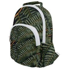 Green Leaves Photo Rounded Multi Pocket Backpack