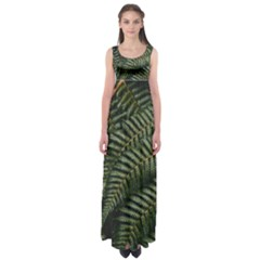 Green Leaves Photo Empire Waist Maxi Dress