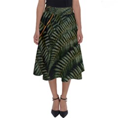 Green Leaves Photo Perfect Length Midi Skirt