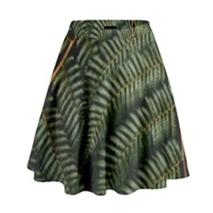 Green Leaves Photo High Waist Skirt