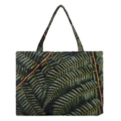 Green Leaves Photo Medium Tote Bag