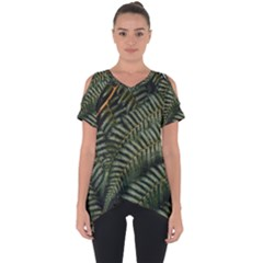 Green Leaves Photo Cut Out Side Drop Tee