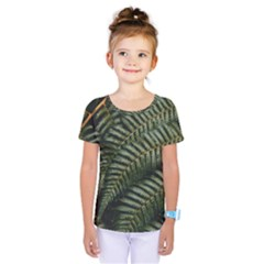 Green Leaves Photo Kids  One Piece Tee