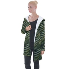 Green Leaves Photo Longline Hooded Cardigan