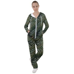 Green Leaves Photo Women s Tracksuit
