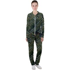 Green Leaves Photo Casual Jacket And Pants Set