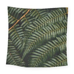 Green Leaves Photo Square Tapestry (large)