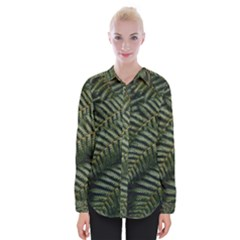Green Leaves Photo Womens Long Sleeve Shirt