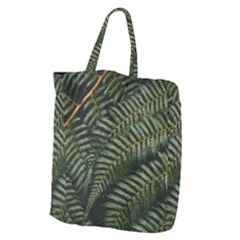 Green Leaves Photo Giant Grocery Tote