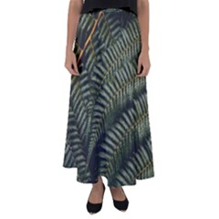 Green Leaves Photo Flared Maxi Skirt