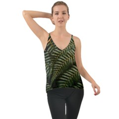 Green Leaves Photo Chiffon Cami