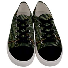 Green Leaves Photo Men s Low Top Canvas Sneakers