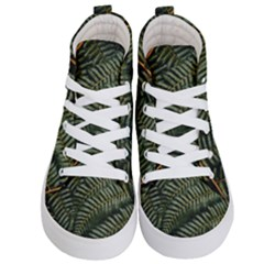 Green Leaves Photo Kids  Hi Top Skate Sneakers
