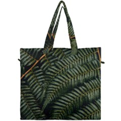 Green Leaves Photo Canvas Travel Bag