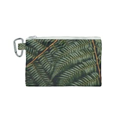 Green Leaves Photo Canvas Cosmetic Bag (small)
