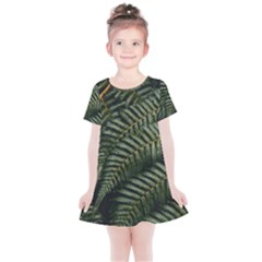 Green Leaves Photo Kids  Simple Cotton Dress