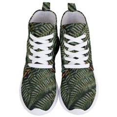 Green Leaves Photo Women s Lightweight High Top Sneakers
