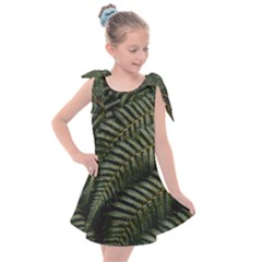 Green Leaves Photo Kids  Tie Up Tunic Dress