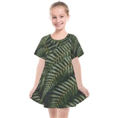Green Leaves Photo Kids  Smock Dress